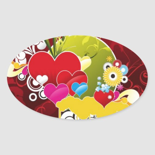 Heart-Vector-Graphic COLORFUL RED HEART HEARTS VEC Stickers