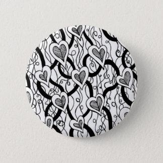Heart Vine Button