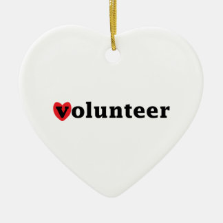 Heart Volunteer Ceramic Ornament