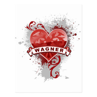 Heart Wagner Postcard