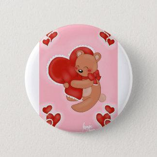 Heart Warming Teddybear 2 Inch Round Button