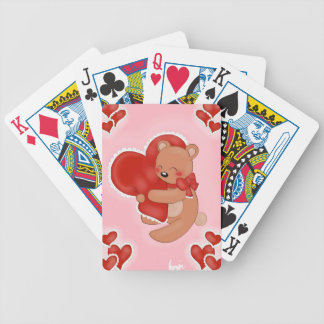 Heart Warming Teddybear Bicycle Playing Cards