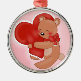 Heart Warming Teddybear Metal Ornament