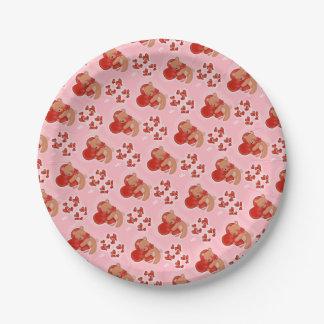 Heart Warming Teddybear Paper Plate