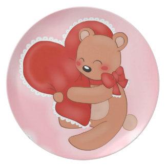 Heart Warming Teddybear Plate
