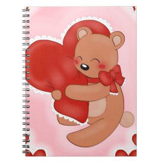 Heart Warming Teddybear Spiral Notebook
