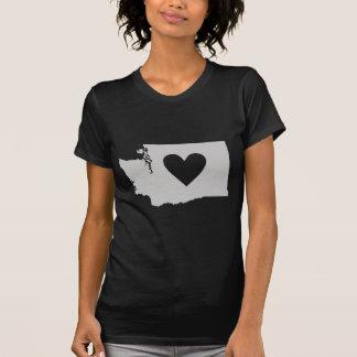 Heart Washington state silhouette T-Shirt