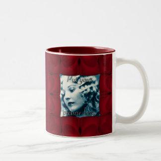 Heart Wave Frame Two-Tone Coffee Mug