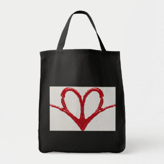 Heart Wide Open Grocery Tote Bag