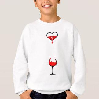 heart wine sweatshirt
