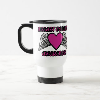Heart/Wings...Breast Cancer Travel Mug