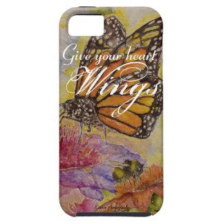 Heart Wings Butterfly Watercolor Art iPhone Case