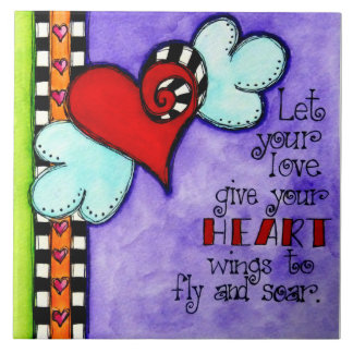 Heart Wings Ceramic Tiles