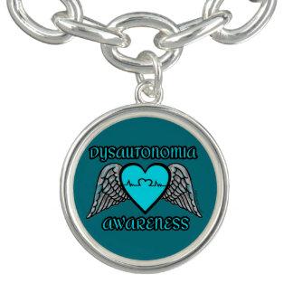 Heart/Wings...Dysautonomia Charm Bracelet