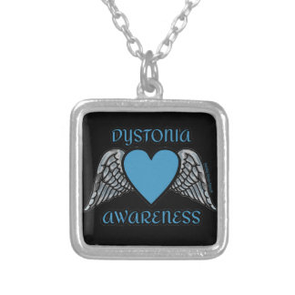 Heart/Wings...Dystonia Silver Plated Necklace