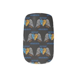 Heart/Wings/Fire...RSD/CRPS Minx Nail Art