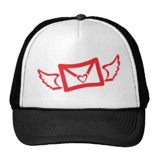 heart wings mesh hats