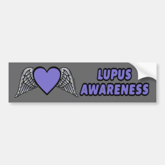 Heart/Wings...Lupus Bumper Sticker