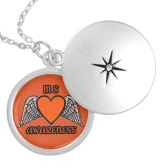 Heart/Wings...MS Silver Plated Necklace