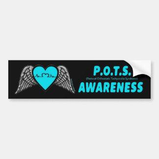 Heart/Wings...P.O.T.S. Bumper Sticker