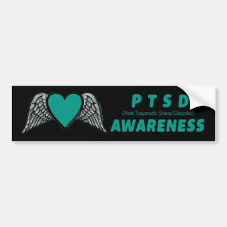 Heart/Wings...PTSD Bumper Sticker