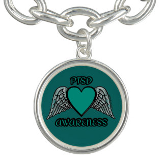 Heart/Wings...PTSD Charm Bracelet