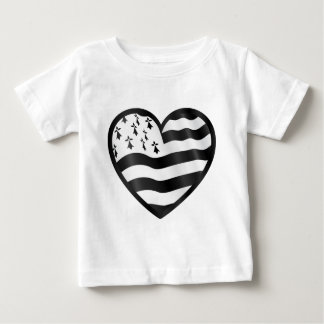 Heart with Bretin flag inside Baby T-Shirt