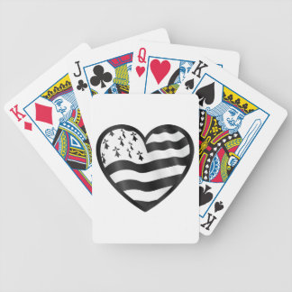 Heart with Bretin flag inside Bicycle Playing Cards