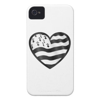 Heart with Bretin flag inside iPhone 4 Case-Mate Case