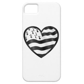 Heart with Bretin flag inside iPhone 5 Case