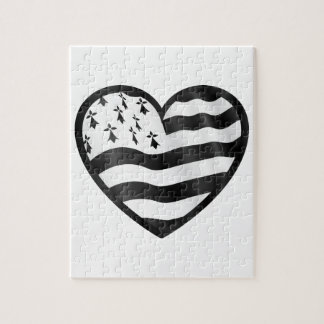 Heart with Bretin flag inside Jigsaw Puzzle