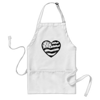 Heart with Bretin flag inside Standard Apron
