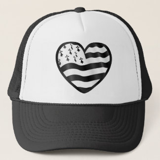 Heart with Bretin flag inside Trucker Hat