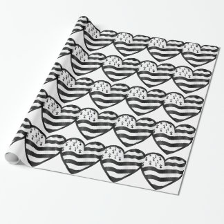 Heart with Bretin flag inside Wrapping Paper