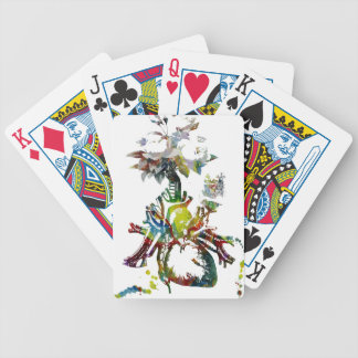 Heart with Flowers Abstract Gifts Bicycle Playing Cards
