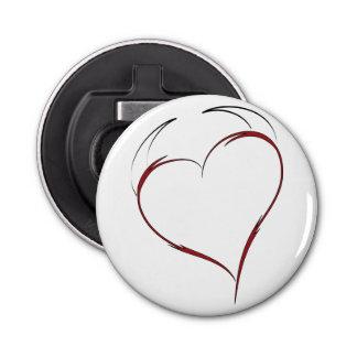 Heart with Horns Bottle Opener