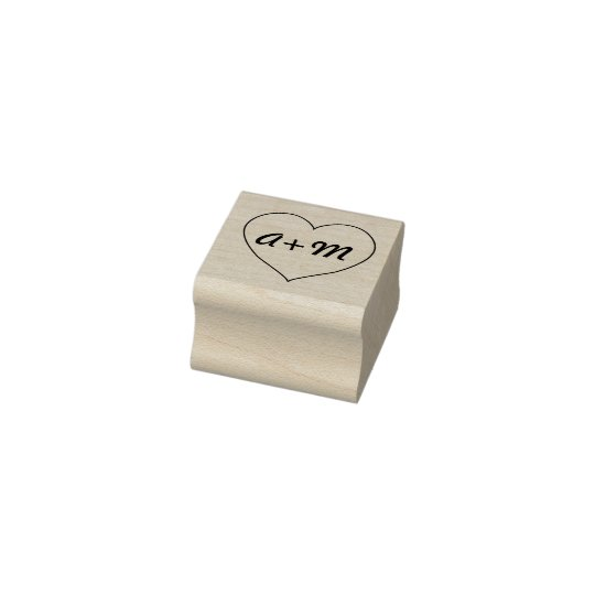 Heart with Initials Stamp