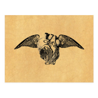 Heart with Locks and Wings Postcard