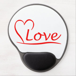 Heart with love gel mouse pad