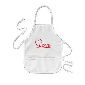 Heart with love kids apron