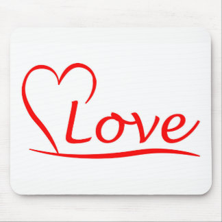 Heart with love mouse pad