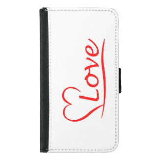 Heart with love samsung galaxy s5 wallet case