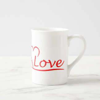 Heart with love tea cup