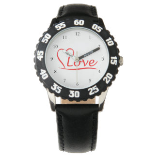 Heart with love watch