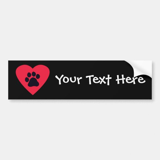 Heart with Paw Print Bumper Stickers