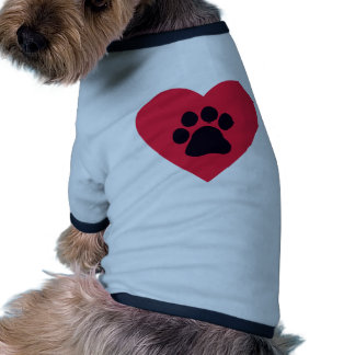 Heart with Paw Print Doggie Tshirt
