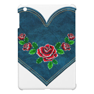 Heart with red roses cover for the iPad mini