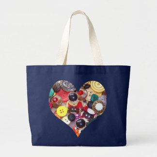 Heart with Scottie Dogs Large Tote Bag