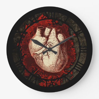 Heart With Spatters Large Clock