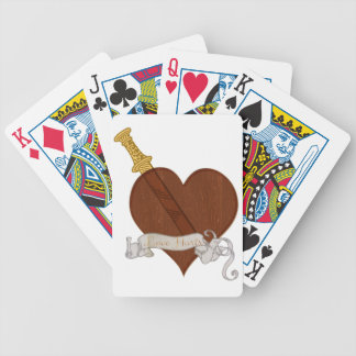 Heart With Sword Love Hurts Bicycle Playing Cards
